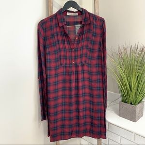 Abercrombie & Fitch Plaid Collared  ShirtDress NWT